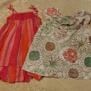 Set of 2 girls dresses 24 months